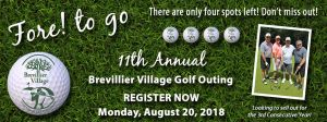 11th Annual Golf Outing. Monday, August 20, 2018.
