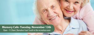 Memory Cafe - Tuesday, November 13th.