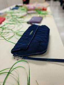 Handbag prize at Brevillier Village's handbag bingo event.