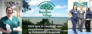 Employment Opportunities at Brevillier Village.