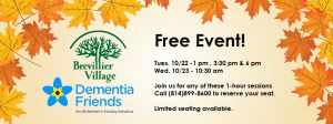 Brevillier Village, Dementia Friends Free Event.
